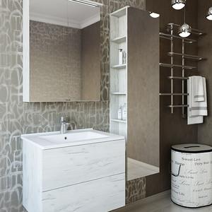 Мебель для ванной Sanflor Чикаго 75 дуб крафт белый