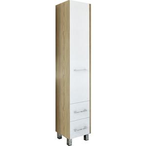 Шкаф-пенал Sanflor Ларго 40 швейцарский вяз\белый, левый (H0000000028)