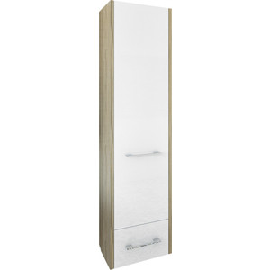 Шкаф-пенал Sanflor Ларго 40 швейцарский вяз\белый, левый (H0000000510)