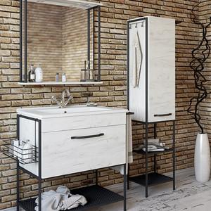 Мебель для ванной Sanflor Бруклин 75 дуб крафт белый, с полотенцедержателем