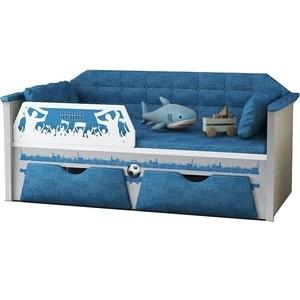 Диван-кровать Липецк Спорт 80х180 синий диван кровать олимп мебель мася 7 паровозик 8121127 синий красный желтый