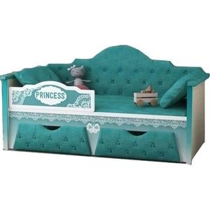 Диван-кровать Липецк Принцесса 80х160 бирюзовый бирюзовый цв 21