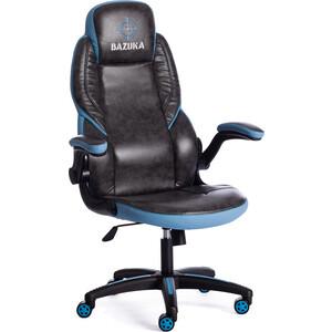 цена на Кресло TetChair BAZUKA кож/зам серый/голубой 2TONE/2TONE перф/04-20