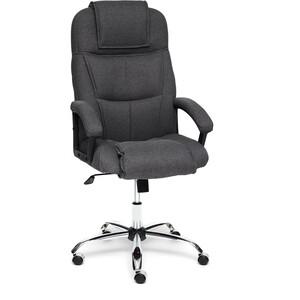 Кресло TetChair BERGAMO (хром) ткань темно-серый F68