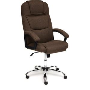Кресло TetChair BERGAMO (хром) ткань коричневый 3М7-147