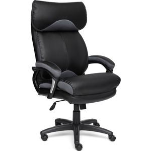 Кресло TetChair DUKE кож/зам/ткань черный/серый 36-6/12