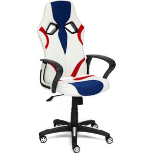 Кресло TetChair RUNNER кож/зам/ткань белый/синий/красный 36-01/10/08
