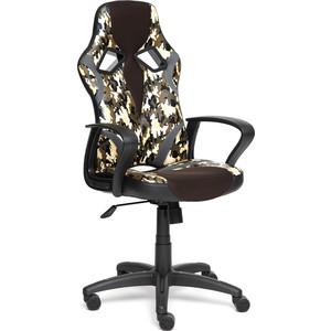 Кресло TetChair RUNNER military кож/зам/ткань хаки/коричневый/серый