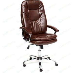 Кресло TetChair SOFTY LUX кож/зам коричневый 2 TONE