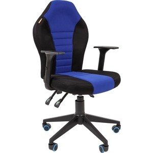 Офисноекресло Chairman Game 8 tw черный/синий компьютерное кресло chairman game 8 черно синий