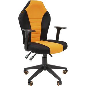 Офисноекресло Chairman Game 8 tw черный/оранжевый компьютерное кресло chairman game 8 черно синий