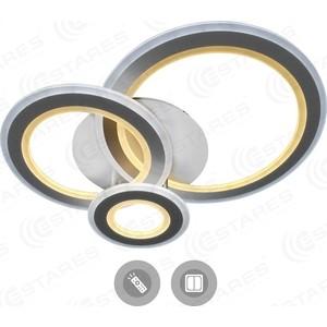 Управляемый светодиодный светильник Estares TRIPLEX ROUND 108W R-700/600-WHITE/WHITE-220-IP44 встраиваемый светодиодный ультратонкий светильник estares dl 7 white тёплый белый