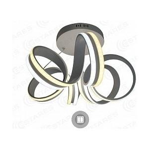 Подвесной светодиодный светильник Estares VOLNA DOUBLE 90W 6R-500/1200-WHITE/OPAL-220-IP20 on/off