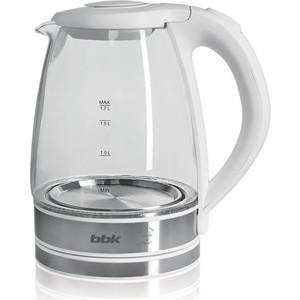 лучшая цена Чайник электрический BBK EK1726G, белый металл