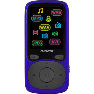 MP3 плеер Digma B4 8Gb blue цена и фото
