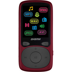 цена на MP3 плеер Digma B4 8Gb red