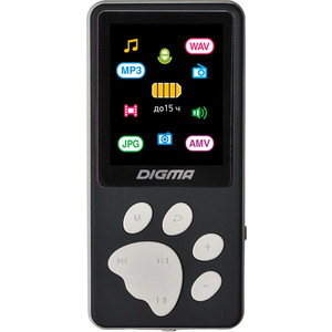 MP3 плеер Digma S4 8Gb black/grey цена и фото