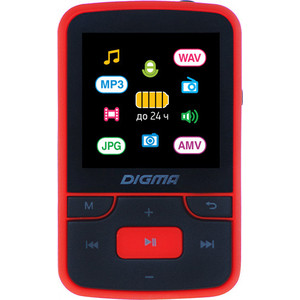 MP3 плеер Digma T4 8Gb black/red