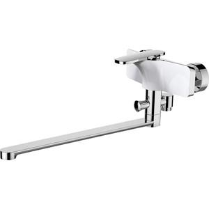 Смеситель для ванны Raiber Dunis с душем, хром\белый (R1203)