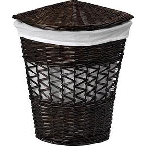 Корзина для белья Wasserkraft Salm плетеная с крышкой, водоотталкивающее покрытие, съемный чехол, размер 40х40х57 см, WB-270-L
