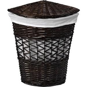 Корзина для белья Wasserkraft Salm плетеная с крышкой, водоотталкивающее покрытие, съемный чехол, размер 33х33х51 см, WB-270-M