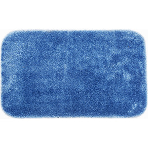 купить Коврик для ванной Wasserkraft Wern Dark blue, полиамид и волокно Antron, 90х57 см, BM-2503 по цене 3490 рублей