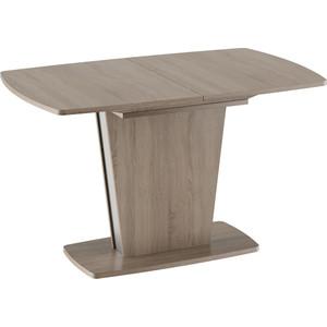 лучшая цена Стол обеденный ТриЯ Ливерпуль Тип 2 дуб сонома трюфель/металлик
