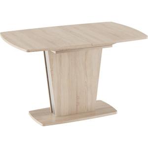 лучшая цена Стол обеденный ТриЯ Ливерпуль Тип 2 дуб сонома/металлик