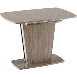 Стол обеденный ТриЯ Ливерпуль Тип 1 дуб сонома трюфель/металлик