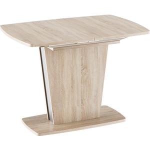 лучшая цена Стол обеденный ТриЯ Ливерпуль Тип 1 дуб сонома/металлик