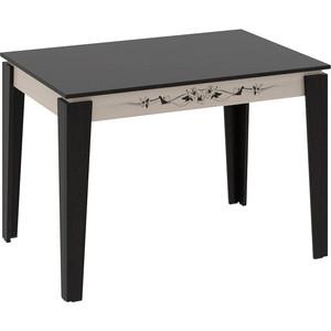 Стол обеденный ТриЯ Лацио Тип 1 венге цаво/дуб белфорт с рисунком