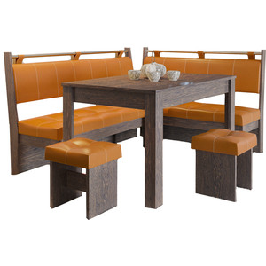 Кухонный уголок Это-мебель Остин венге/оранж