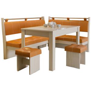 Кухонный уголок Это-мебель Остин дуб белфорд/оранж