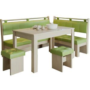Кухонный уголок Это-мебель Остин дуб белфорд/фисташка