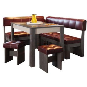 Кухонный уголок Это-мебель Валенсия венге/бордо