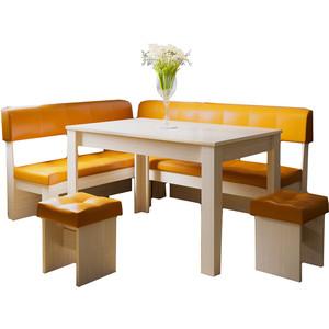 Кухонный уголок Это-мебель Валенсия дуб белфорд/оранж