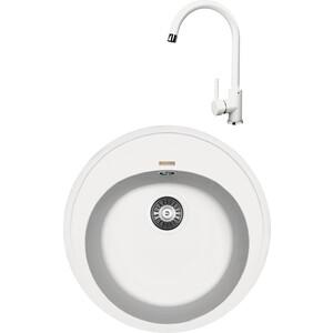Кухонная мойка и смеситель Florentina Лотос 510 жасмин FS (20.290.B0510.201 + 33.26L.1110.201)