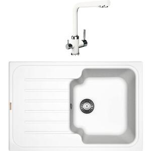Кухонная мойка и смеситель Florentina Таис 760 жасмин FS (20.260.B0760.201 + 33.25L.2210.201)