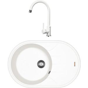 Кухонная мойка и смеситель Florentina Лотос 780 жасмин FS (20.295.C0780.201 + 33.24H.1110.201)