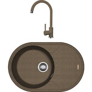 Кухонная мойка и смеситель Florentina Лотос 780 коричневый FG (20.295.C0780.105 + 33.24H.1110.105)