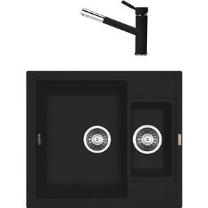 Кухонная мойка и смеситель Florentina Липси 580 К антрацит FSm (20.210.D0580.302 + 33.27L.1120.302) цена