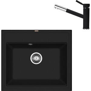 Кухонная мойка и смеситель Florentina Липси 600 антрацит FSm (20.120.D0600.302 + 33.27L.1120.302) цена