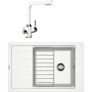 Кухонная мойка и смеситель Florentina Липси 780 Р жасмин FS (20.275.D0780.201 + 33.27L.1120.201)