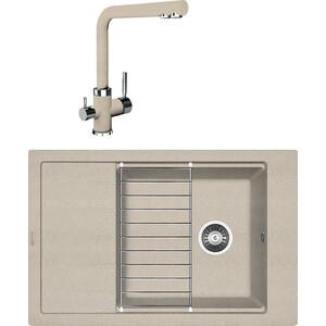 Кухонная мойка и смеситель Florentina Липси 780 Р песочный FG (20.275.D0780.107 + 33.27L.1120.107) недорого