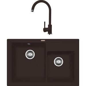 Кухонная мойка и смеситель Florentina Касси 780 мокко FSm (20.230.E0780.303 + 33.21H.1110.303)