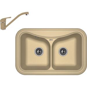 Кухонная мойка и смеситель Florentina Крит 780 А капучино FG (20.175.E0780.306 + 33.51L.1110.306)