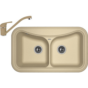 Кухонная мойка и смеситель Florentina Крит 860 капучино FG (20.115.E0860.306 + 33.51L.1110.306) мойка florentina крит 860 грей