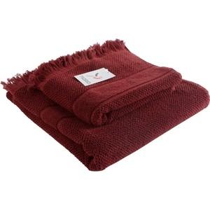 Банное полотенце с бахромой бордового цвета 70х140 Tkano Essential (TK18-BT0030) цены