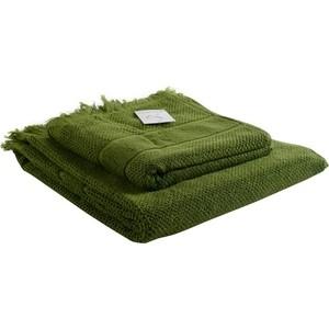 Банное полотенце с бахромой оливково-зеленого цвета 70х140 Tkano Essential (TK18-BT0029)