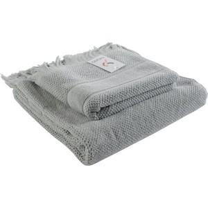 Банное полотенце с бахромой серого цвета 70х140 Tkano Essential (TK18-BT0031)